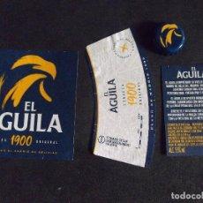 Etiquetas antiguas: CERVEZA-V9-K-I-ETIQUETAS Y CHAPA-EL AGUILA. Lote 207080830