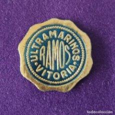 Etiquetas antiguas: ETIQUETA DE ULTRAMARINOS RAMOS. ORIGINAL DE EPOCA. VITORIA (ALAVA). 1920-40.. Lote 207102497
