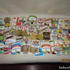 Etiquetas antiguas: ANTIGUO LOTE DE 86 ETIQUETAS DIFERENTES DE BOTELLAS DE CERVEZA. Lote 207125841