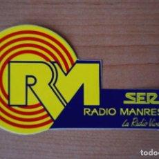 Etiquetas antiguas: ADHESIU RADIO MANRESA SER. Lote 207338776