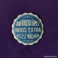 Etiquetas antiguas: ETIQUETA DE JUAN HERRERA GOMEZ HIGOS EXTRA. ORIGINAL DE EPOCA. VELEZ (MALAGA). 1920-40.. Lote 246273370