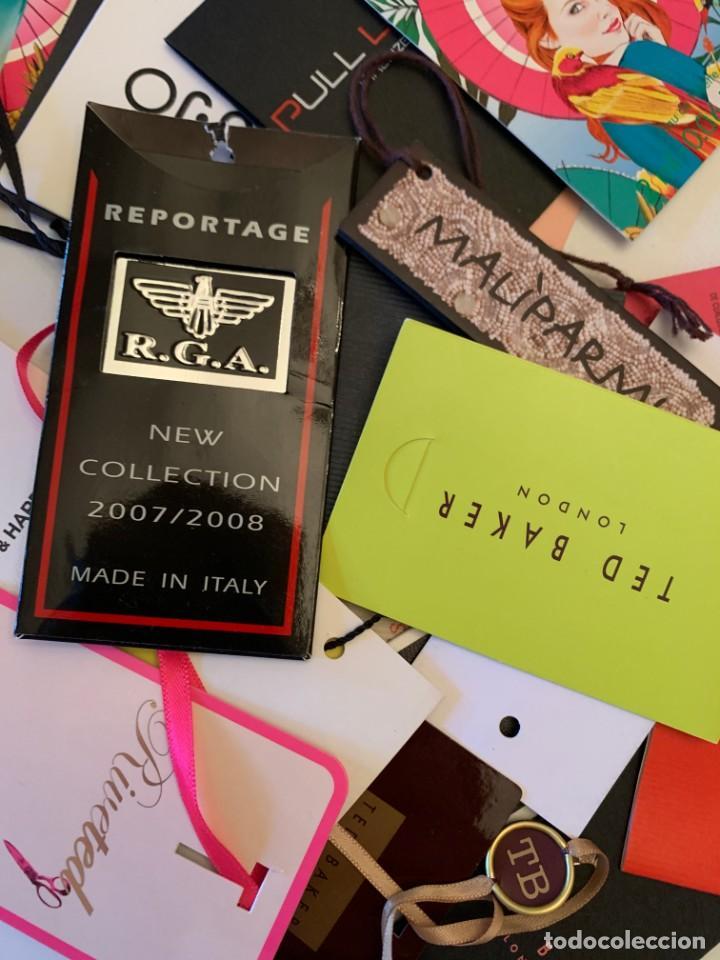 Etiquetas antiguas: Gran lote de etiquetas de primeras firmas de moda. Algunas con más de 20 años. - Foto 2 - 209748960