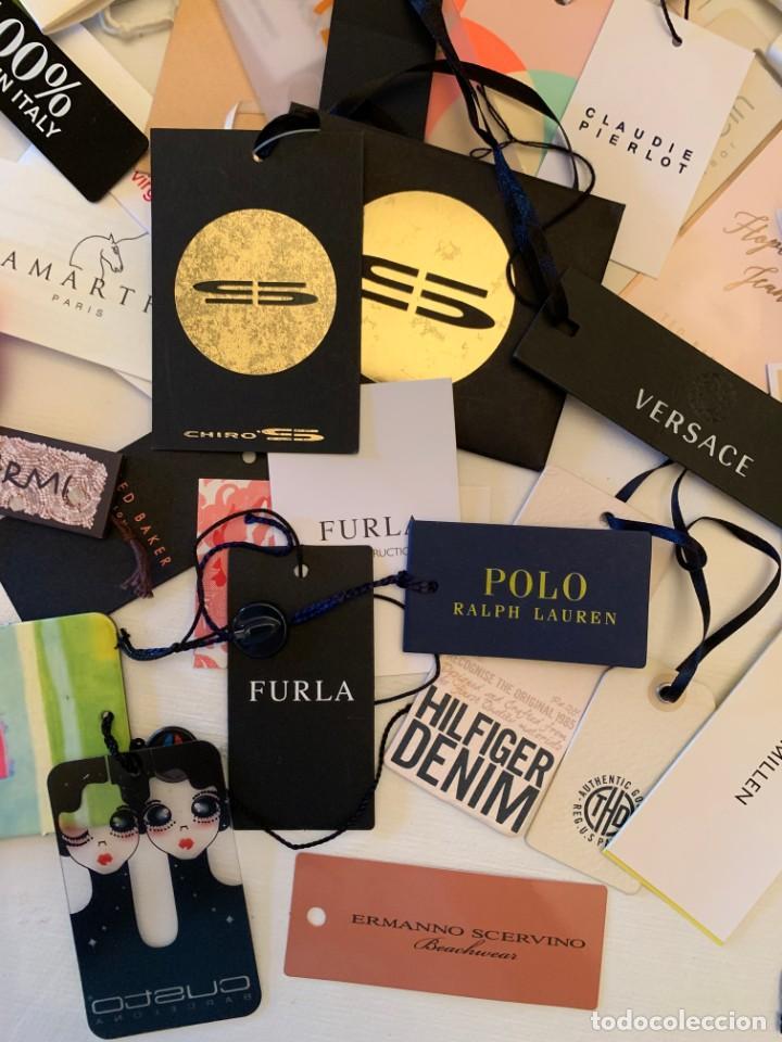 Etiquetas antiguas: Gran lote de etiquetas de primeras firmas de moda. Algunas con más de 20 años. - Foto 5 - 209748960