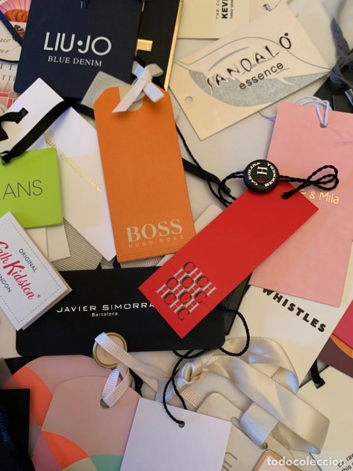Etiquetas antiguas: Gran lote de etiquetas de primeras firmas de moda. Algunas con más de 20 años. - Foto 6 - 209748960
