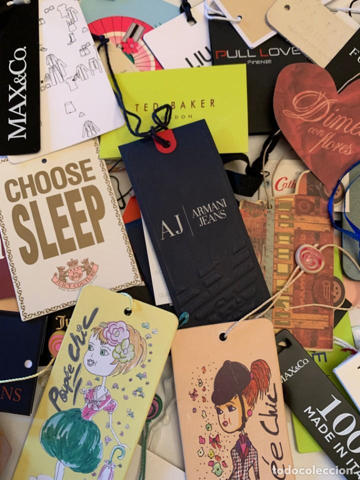 Etiquetas antiguas: Gran lote de etiquetas de primeras firmas de moda. Algunas con más de 20 años. - Foto 7 - 209748960