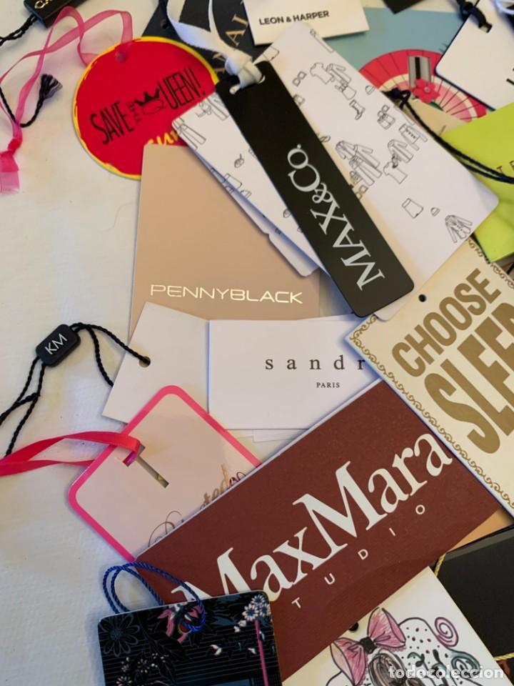 Etiquetas antiguas: Gran lote de etiquetas de primeras firmas de moda. Algunas con más de 20 años. - Foto 8 - 209748960