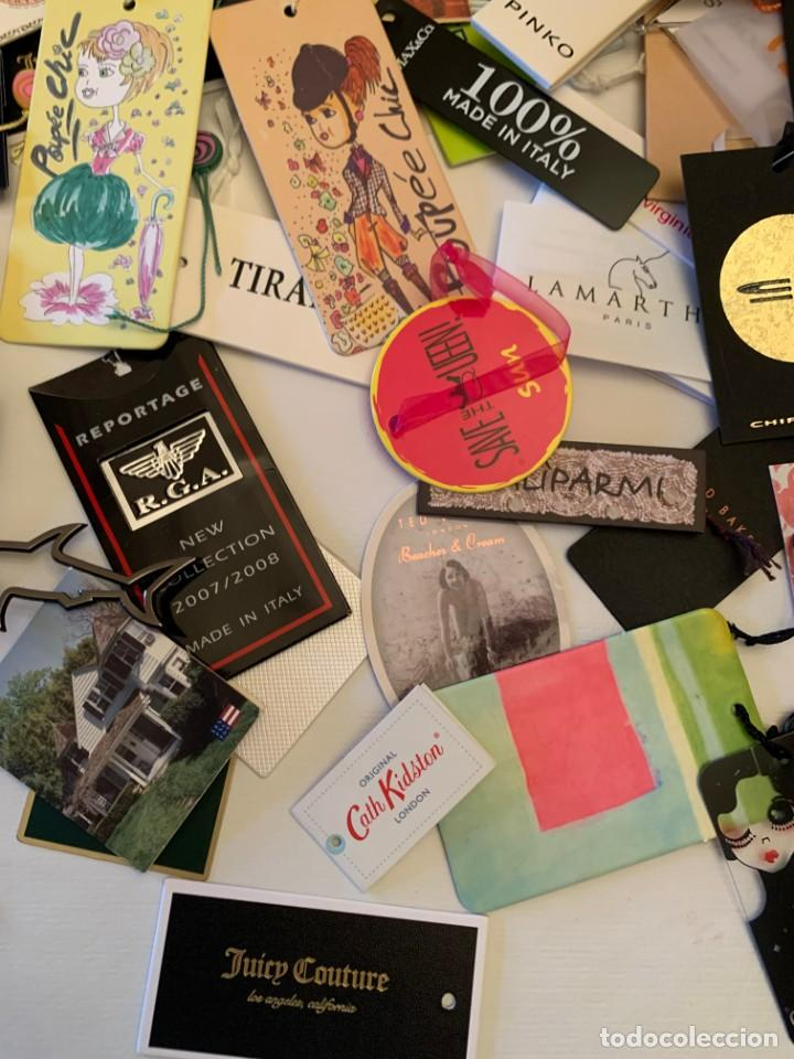 Etiquetas antiguas: Gran lote de etiquetas de primeras firmas de moda. Algunas con más de 20 años. - Foto 10 - 209748960