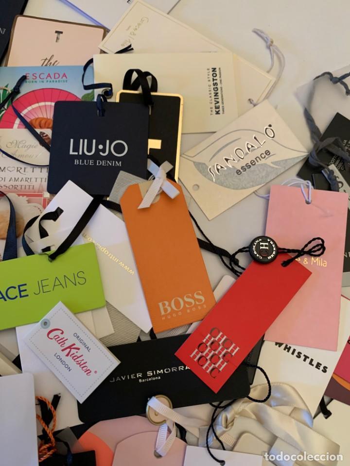 Etiquetas antiguas: Gran lote de etiquetas de primeras firmas de moda. Algunas con más de 20 años. - Foto 12 - 209748960