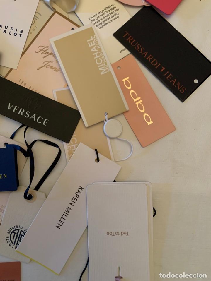Etiquetas antiguas: Gran lote de etiquetas de primeras firmas de moda. Algunas con más de 20 años. - Foto 14 - 209748960