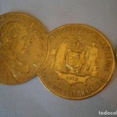 Etiquetas antiguas: ETIQUETA PUBLICITARIA, AÑOS 30,40. ALFONSO XIII ESPAÑA CIUDAD DE BARCELONA EXPOSICION INTERNACIONAL. Lote 210209442