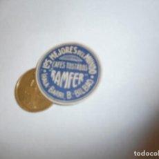 Etiquetas antiguas: ETIQUETA PUBLICITARIA, AÑOS 30,40. CAFES TOSTADOS RAMFER LOS MEJORES DEL MUNDO (BILBAO). Lote 210209905