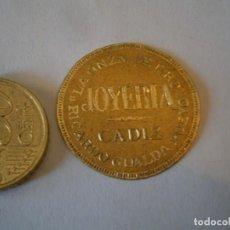 Etiquetas antiguas: ETIQUETA PUBLICITARIA, AÑOS 30,40.LA ONZA DE ORO RICARDO GUALDA PUEYO JOYERIA (CADIZ). Lote 210215868