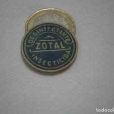 Etiquetas antiguas: ETIQUETA PUBLICITARIA, AÑOS 30,40. DESINFECTANTE ZOTAL INSECTICIDA. Lote 210559685