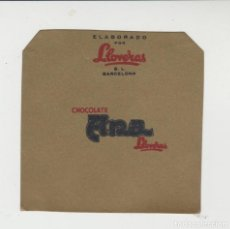 Etiquetas antiguas: LOTE A- ETIQUETA ENVOLTORIO CHOCOLATE CHOCOLATES LLOVERAS. Lote 210635420