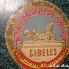 Etiquetas antiguas: VINO PRIORATO AÑEJO BALLESTER Y MOLINA ETIQUETA GRANDE - PORTAL DEL COL·LECCIONITA. Lote 211758387