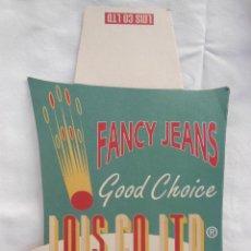 Etiquetas antiguas: FANCY JEANS (VAQUEROS) GOOD CHOICE LOIS CO LTD. GRUPO SÁEZ MERINO VALENCIA. Lote 211785736
