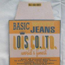 Etiquetas antiguas: ETIQUETA : BASIC WHITE JEANS. LOIS CO LTD (VAQUEROS). Lote 211786583