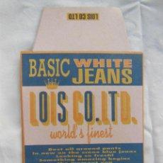 Etiquetas antiguas: ETIQUETA : BASIC WHITE JEANS. LOIS CO LTD (VAQUEROS). Lote 211786767
