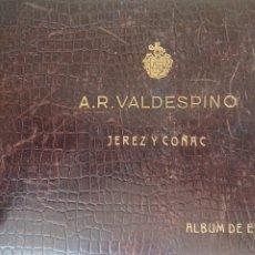 Etiquetas antiguas: ALBUM DE ETIQUETAS JEREZ Y CO?AC A. R VALDRSPINO ALBUM CON MAS DE 50 ETIQUETAS. Lote 211795788