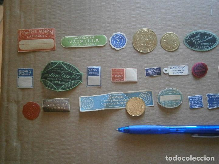 Etiquetas antiguas: ¡LOTE,DE,30¡¡ ,ETIQUETAS,TODAS,DE,ZARAGOZA,AÑOS,30,40,UNICAS EN TC - Foto 26 - 221515827