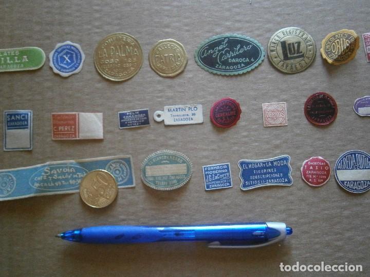 Etiquetas antiguas: ¡LOTE,DE,30¡¡ ,ETIQUETAS,TODAS,DE,ZARAGOZA,AÑOS,30,40,UNICAS EN TC - Foto 27 - 221515827