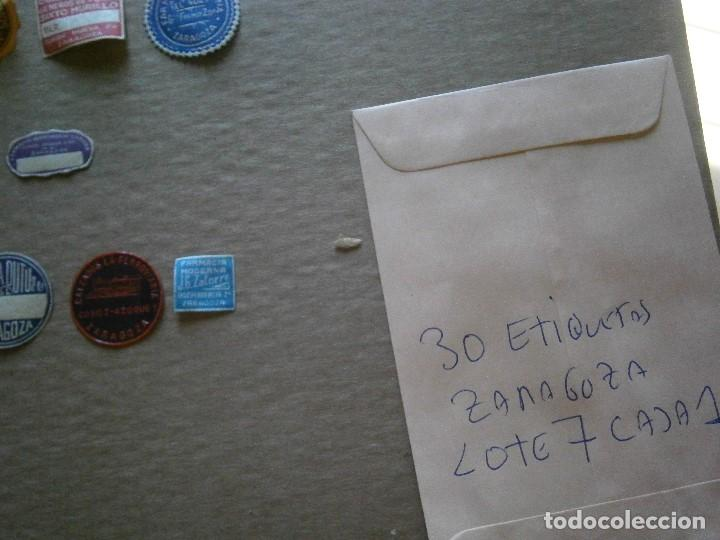 Etiquetas antiguas: ¡LOTE,DE,30¡¡ ,ETIQUETAS,TODAS,DE,ZARAGOZA,AÑOS,30,40,UNICAS EN TC - Foto 29 - 221515827