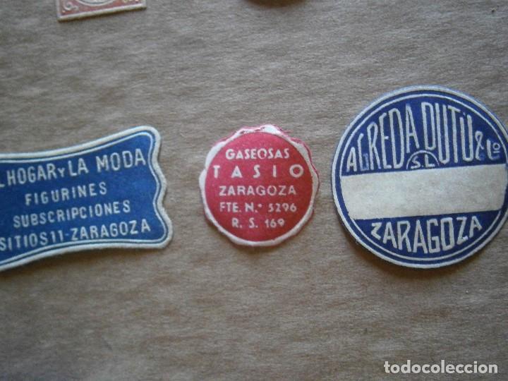 Etiquetas antiguas: ¡LOTE,DE,30¡¡ ,ETIQUETAS,TODAS,DE,ZARAGOZA,AÑOS,30,40,UNICAS EN TC - Foto 2 - 221515827