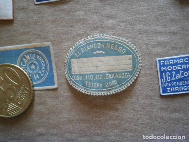 Etiquetas antiguas: ¡LOTE,DE,30¡¡ ,ETIQUETAS,TODAS,DE,ZARAGOZA,AÑOS,30,40,UNICAS EN TC - Foto 4 - 221515827