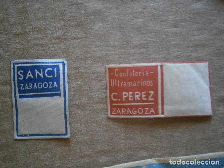 Etiquetas antiguas: ¡LOTE,DE,30¡¡ ,ETIQUETAS,TODAS,DE,ZARAGOZA,AÑOS,30,40,UNICAS EN TC - Foto 9 - 221515827