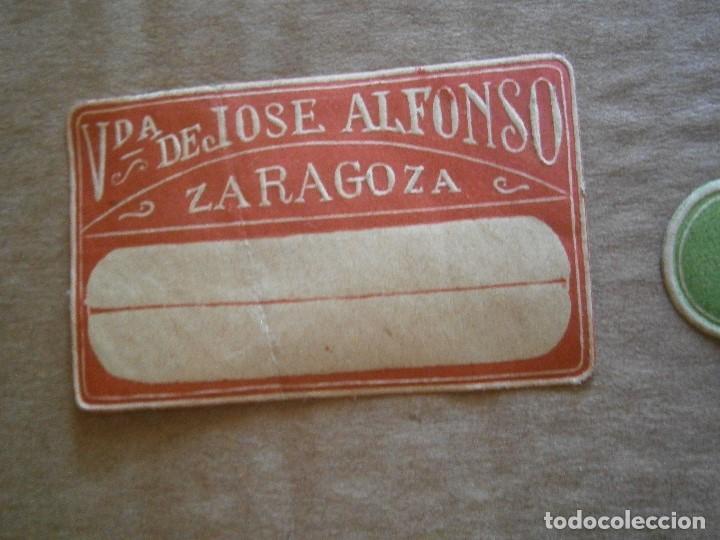 Etiquetas antiguas: ¡LOTE,DE,30¡¡ ,ETIQUETAS,TODAS,DE,ZARAGOZA,AÑOS,30,40,UNICAS EN TC - Foto 20 - 221515827
