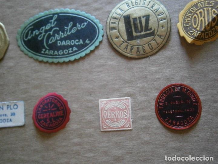 Etiquetas antiguas: ¡LOTE,DE,30¡¡ ,ETIQUETAS,TODAS,DE,ZARAGOZA,AÑOS,30,40,UNICAS EN TC - Foto 21 - 221515827