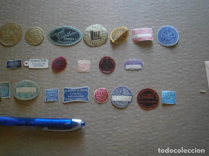 Etiquetas antiguas: ¡LOTE,DE,30¡¡ ,ETIQUETAS,TODAS,DE,ZARAGOZA,AÑOS,30,40,UNICAS EN TC - Foto 22 - 221515827