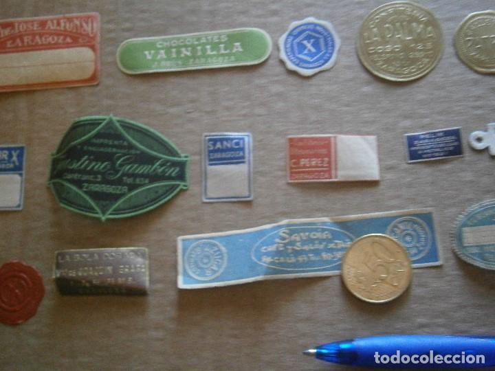 Etiquetas antiguas: ¡LOTE,DE,30¡¡ ,ETIQUETAS,TODAS,DE,ZARAGOZA,AÑOS,30,40,UNICAS EN TC - Foto 24 - 221515827