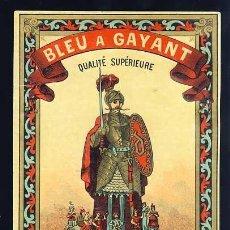 Etiquetas antiguas: ETIQUETA LITOGRAFICA BLEU GAYANT. GIGANTE (?). Lote 213470547