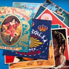 Etiquetas antiguas: COLECCIÓN DE 17 ANTIGUAS ETIQUETAS DIFERENTES DE NARANJAS AÑOS 1930-1950 - VER FOTOS ADICIONALES. Lote 213631523