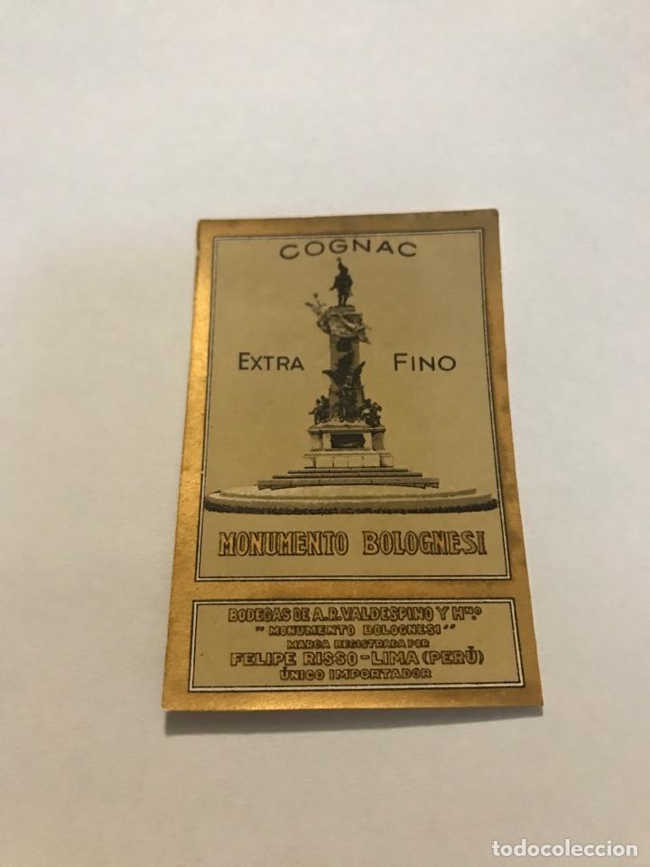 ETIQUETA COGNAC EXTRA FINO BODEGAS VALDESPINO (Coleccionismo - Etiquetas)