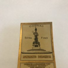 Etiquetas antiguas: ETIQUETA COGNAC EXTRA FINO BODEGAS VALDESPINO. Lote 215367630