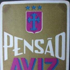 Etiquetas antiguas: ETIQUETA HOTEL PENSÃO AVIZ - PORTO - PORTUGAL - 10,5 CM - SIN ENGOMAR - LEVES MARCAS ANGULARES. Lote 216436423