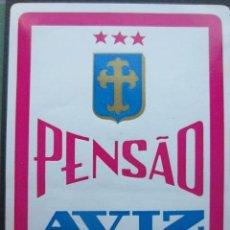 Etiquetas antiguas: ETIQUETA HOTEL PENSÃO AVIZ - PORTO - PORTUGAL - 10,5 CM - SIN ENGOMAR. Lote 216436545