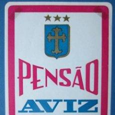 Etiquetas antiguas: ETIQUETA HOTEL PENSÃO AVIZ - PORTO - PORTUGAL - 10,5 CM - SIN ENGOMAR - LEVES MARCAS ANGULARES. Lote 216438076