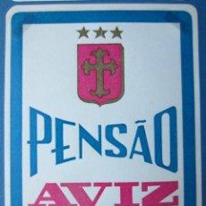 Etiquetas antiguas: ETIQUETA HOTEL PENSÃO AVIZ - PORTO - PORTUGAL - 10,5 CM - SIN ENGOMAR - LEVES MARCAS ANGULARES. Lote 216438178