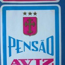 Etiquetas antiguas: ETIQUETA HOTEL PENSÃO AVIZ - PORTO - PORTUGAL - 10,5 CM - PEGATINA. Lote 216438896