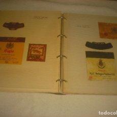 Etiquetas antiguas: ETIQUETAS DE VINO. ALBUM CON 40 ETIQUETAS CLASIFICADAS.. Lote 216641610