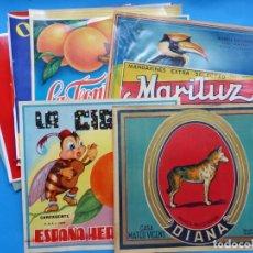 Etiquetas antiguas: COLECCIÓN DE 22 ANTIGUAS ETIQUETAS DIFERENTES DE NARANJAS AÑOS 1930-1950 - VER FOTOS ADICIONALES. Lote 217023398