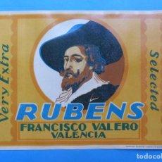 Etiquetas antiguas: 15 ANTIGUAS ETIQUETAS DE NARANJAS - RUBENS, FRANCISCO VALERO - VALENCIA. Lote 218424586
