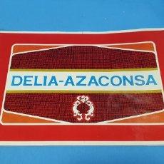 Etiquetas antiguas: PRUEBA DE IMPRENTA PARA TAPA DE LATA - AZAFRANES DELIA - AZACONSA - NOVELDA -ALICANTE. Lote 218686471