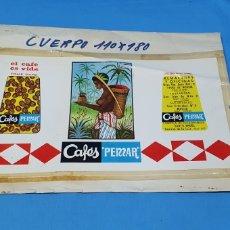 Etiquetas antiguas: PRUEBA DE IMPRENTA PARA LATA DE 1/2KG. - CAFÉS PEMAR - SANTO ÁNGEL - MURCIA. Lote 218689238