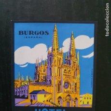 Etiquetas antiguas: ETIQUETA ADHESIVA DE HOTEL CONDESTABLE. BURGOS. Lote 218732895