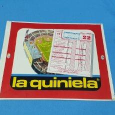 Etiquetas antiguas: PEQUEÑO CARTEL PRUEBA DE IMPRENTA - LA QUINIELA - JORNADA 22 - 1-2-70. Lote 218784266