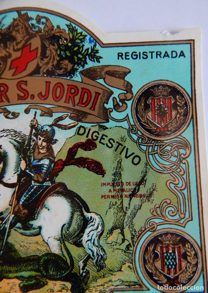 Etiquetas antiguas: 10 Etiquetas / Licor S. Jordi - San Jorge - Tónico Digestivo - Destilerías Lladó - Arenys de Munt - Foto 6 - 219298561